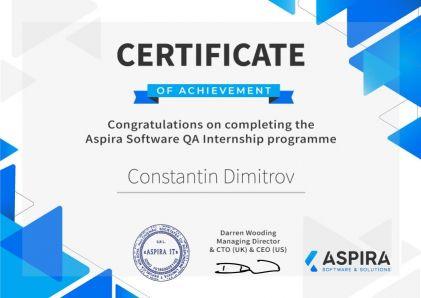 CertificateConstantin