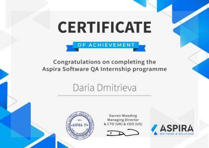 CertificateDaria